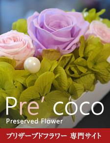 プリザーブドフラワー Pre'coco